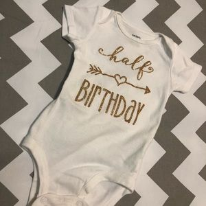 HALF BIRTHDAY ONESIE